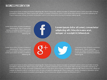 Creative Social Presentation Concept, Slide 16, 02938, Presentation Templates — PoweredTemplate.com