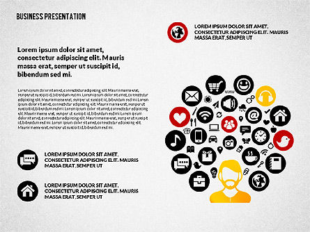 Creative Social Presentation Concept, Slide 5, 02938, Presentation Templates — PoweredTemplate.com