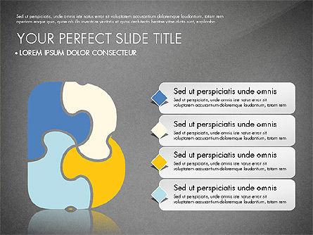 Puzzle Jigsaw Alphabet Letters, Slide 12, 02939, Puzzle Diagrams — PoweredTemplate.com