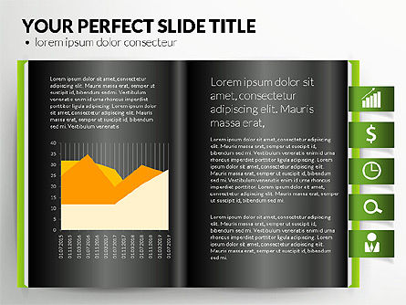 Open Book with Bookmarks and Data Driven Charts, Slide 10, 02941, Data Driven Diagrams and Charts — PoweredTemplate.com