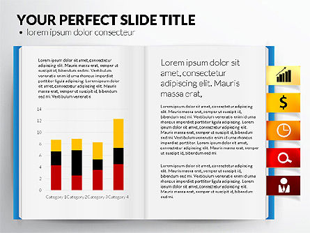 Open Book with Bookmarks and Data Driven Charts, Slide 7, 02941, Data Driven Diagrams and Charts — PoweredTemplate.com