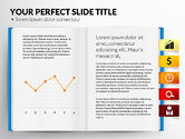 Data Driven Diagrams and Charts: Open Book with Bookmarks and Data Driven Charts #02941
