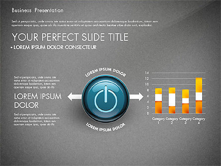 Process Diagrams and Power Button, Slide 10, 02944, Process Diagrams — PoweredTemplate.com