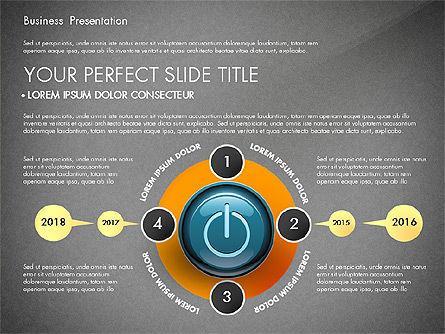 Process Diagrams and Power Button, Slide 11, 02944, Process Diagrams — PoweredTemplate.com