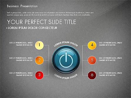 Process Diagrams and Power Button, Slide 12, 02944, Process Diagrams — PoweredTemplate.com