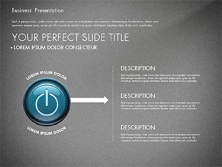 Process Diagrams and Power Button, Slide 13, 02944, Process Diagrams — PoweredTemplate.com