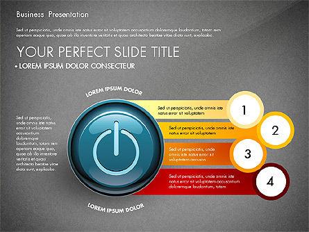 Process Diagrams and Power Button, Slide 14, 02944, Process Diagrams — PoweredTemplate.com
