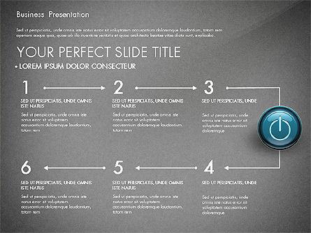 Process Diagrams and Power Button, Slide 15, 02944, Process Diagrams — PoweredTemplate.com