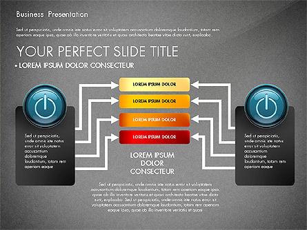 Process Diagrams and Power Button, Slide 16, 02944, Process Diagrams — PoweredTemplate.com