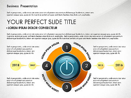 Process Diagrams and Power Button, Slide 3, 02944, Process Diagrams — PoweredTemplate.com