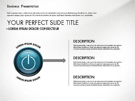 Process Diagrams and Power Button, Slide 5, 02944, Process Diagrams — PoweredTemplate.com