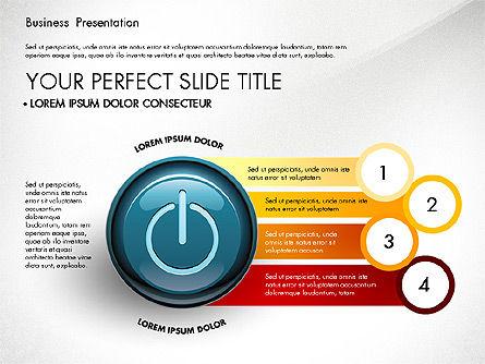 Process Diagrams and Power Button, Slide 6, 02944, Process Diagrams — PoweredTemplate.com