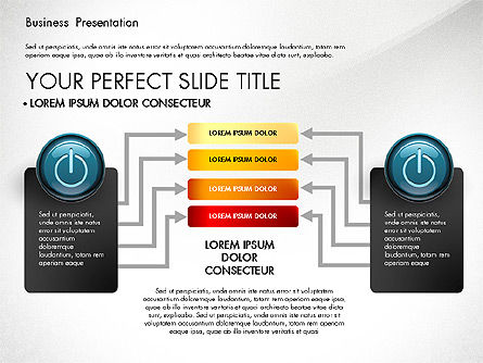 Process Diagrams and Power Button, Slide 8, 02944, Process Diagrams — PoweredTemplate.com