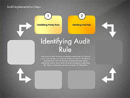 Audit Implementation Steps Diagram, Slide 11, 02945, Business Models — PoweredTemplate.com