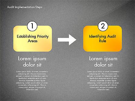 Audit Implementation Steps Diagram, Slide 16, 02945, Business Models — PoweredTemplate.com