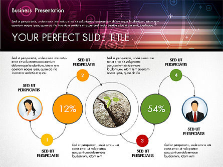 Illustrative Presentation Template, 02946, Presentation Templates — PoweredTemplate.com