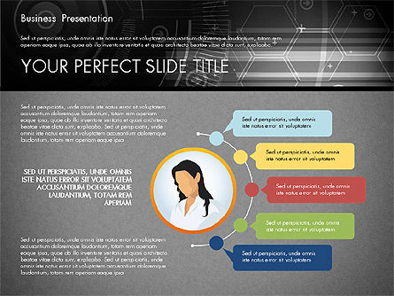 Illustrative Presentation Template, Slide 12, 02946, Presentation Templates — PoweredTemplate.com