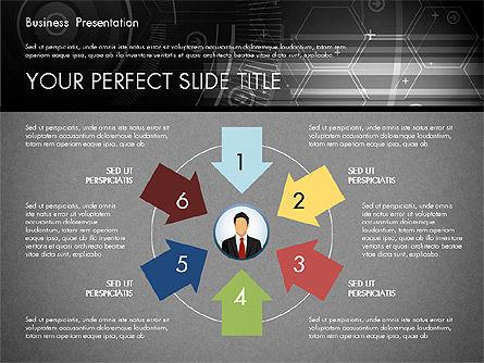 Illustrative Presentation Template, Slide 13, 02946, Presentation Templates — PoweredTemplate.com