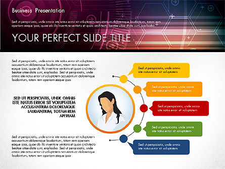 Illustrative Presentation Template, Slide 4, 02946, Presentation Templates — PoweredTemplate.com