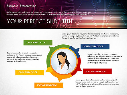 Illustrative Presentation Template, Slide 6, 02946, Presentation Templates — PoweredTemplate.com