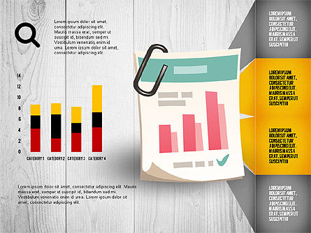 Infographics with Options and Charts, Slide 3, 02948, Stage Diagrams — PoweredTemplate.com