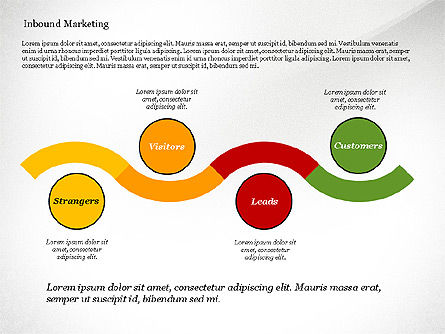 Inbound Marketing Diagram, Slide 3, 02949, Business Models — PoweredTemplate.com
