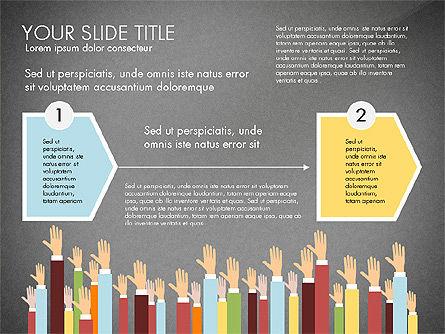 Hands Up Presentation Concept, Slide 10, 02951, Presentation Templates — PoweredTemplate.com
