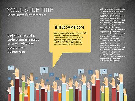 Hands Up Presentation Concept, Slide 11, 02951, Presentation Templates — PoweredTemplate.com