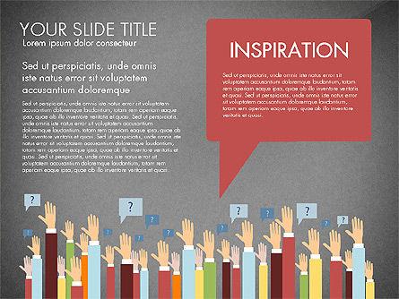 Hands Up Presentation Concept, Slide 12, 02951, Presentation Templates — PoweredTemplate.com