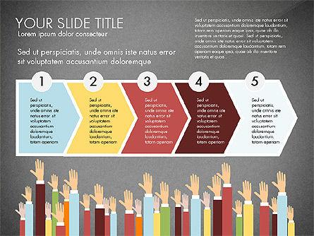 Hands Up Presentation Concept, Slide 13, 02951, Presentation Templates — PoweredTemplate.com