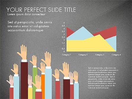 Hands Up Presentation Concept, Slide 16, 02951, Presentation Templates — PoweredTemplate.com