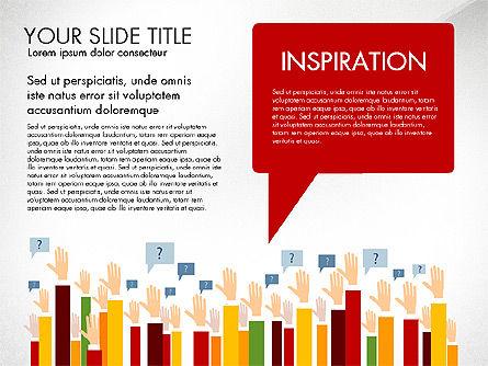 Hands Up Presentation Concept Slide 4
