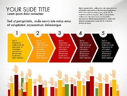 Hands Up Presentation Concept, Slide 5, 02951, Presentation Templates — PoweredTemplate.com