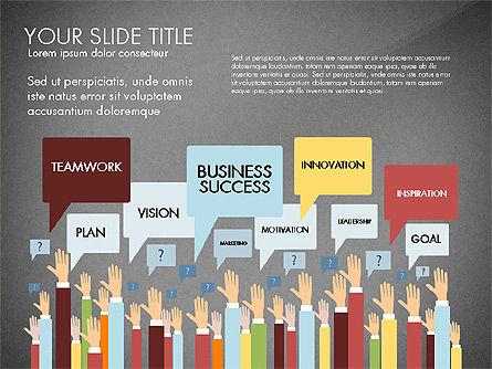 Hands Up Presentation Concept, Slide 9, 02951, Presentation Templates — PoweredTemplate.com