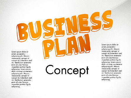 Business Plan Process Concept, 02955, Process Diagrams — PoweredTemplate.com