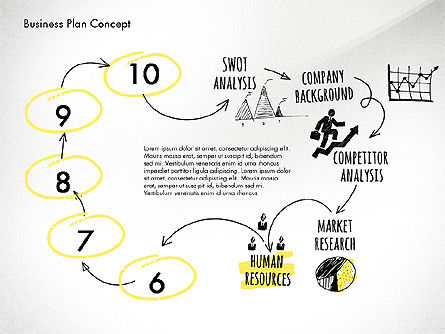 Business Plan Process Concept, Slide 10, 02955, Process Diagrams — PoweredTemplate.com