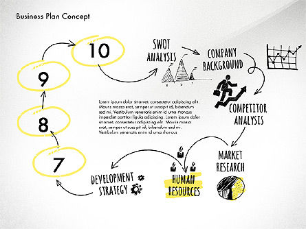 Business Plan Process Concept, Slide 11, 02955, Process Diagrams — PoweredTemplate.com