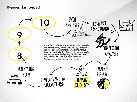 Business Plan Process Concept, Slide 12, 02955, Process Diagrams — PoweredTemplate.com