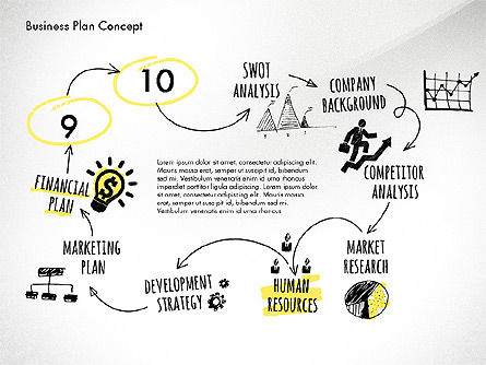 Business Plan Process Concept, Slide 13, 02955, Process Diagrams — PoweredTemplate.com