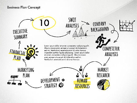 Business Plan Process Concept, Slide 14, 02955, Process Diagrams — PoweredTemplate.com
