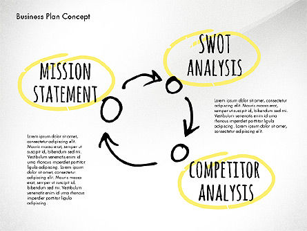 Business Plan Process Concept, Slide 16, 02955, Process Diagrams — PoweredTemplate.com