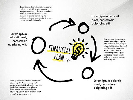 Business Plan Process Concept, Slide 4, 02955, Process Diagrams — PoweredTemplate.com