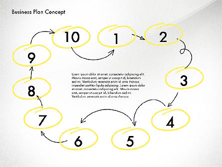 Business Plan Process Concept, Slide 5, 02955, Process Diagrams — PoweredTemplate.com