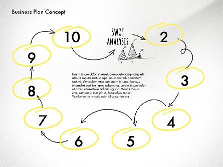 Business Plan Process Concept, Slide 6, 02955, Process Diagrams — PoweredTemplate.com