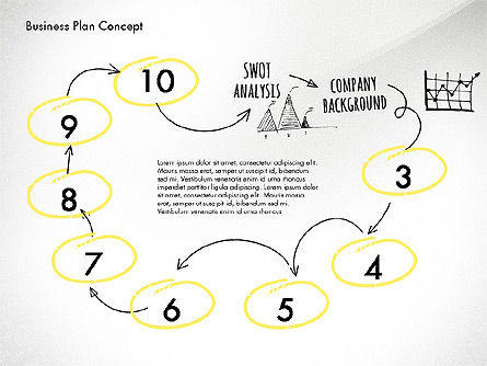 Business Plan Process Concept, Slide 7, 02955, Process Diagrams — PoweredTemplate.com