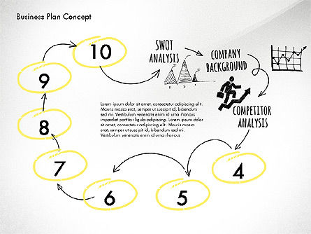 Business Plan Process Concept, Slide 8, 02955, Process Diagrams — PoweredTemplate.com
