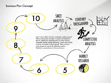 Business Plan Process Concept, Slide 9, 02955, Process Diagrams — PoweredTemplate.com