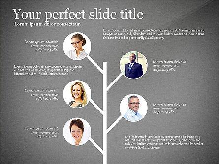 Company Organization Diagram, Slide 12, 02958, Organizational Charts — PoweredTemplate.com