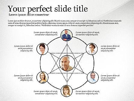 Company Organization Diagram, Slide 5, 02958, Organizational Charts — PoweredTemplate.com