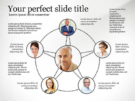 Company Organization Diagram, Slide 7, 02958, Organizational Charts — PoweredTemplate.com
